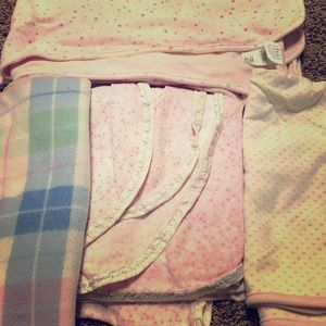 Baby girl blanket bundle of four brand name